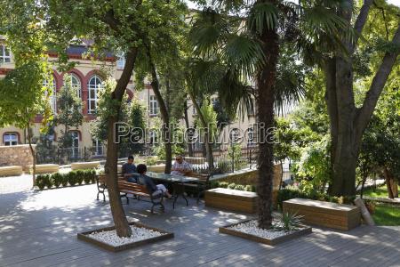 turkey istanbul garden of mevlevi monastery