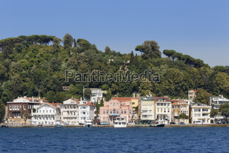 turkey istanbul mansions at waterside of