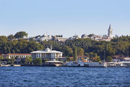 turkey istanbul sultanahmet view of topkapi