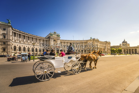 austria vienna national library horse drawn