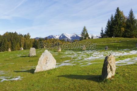 austria vorarlberg view of neolithic stone