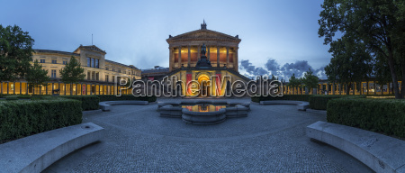 germany berlin old national gallery in