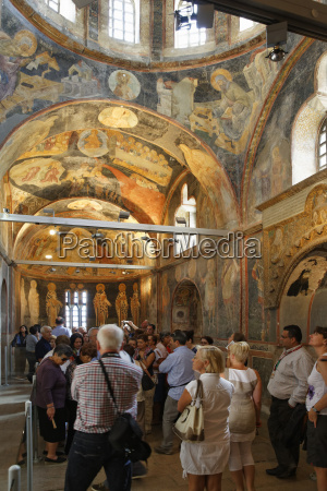 turkey istanbul interior of chora church