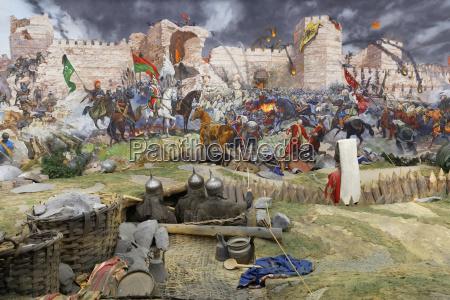 turkey istanbul painting of battle