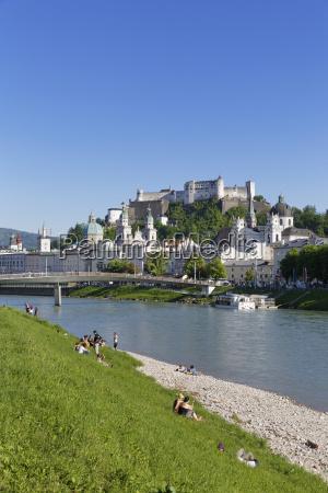 austria salzburg view of collegiate church