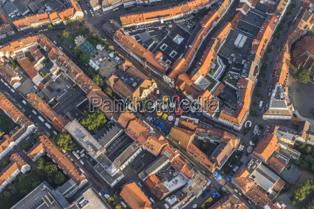 germany hildesheim aerial view of the