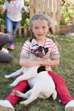 portrait of little blond girl with
