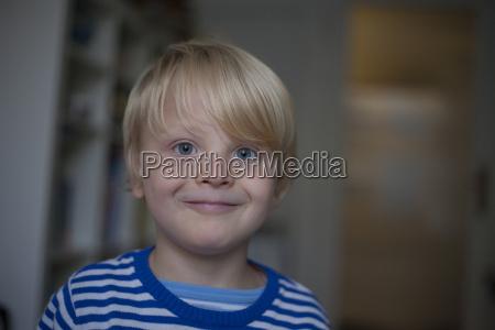 portrait of smiling little boy at