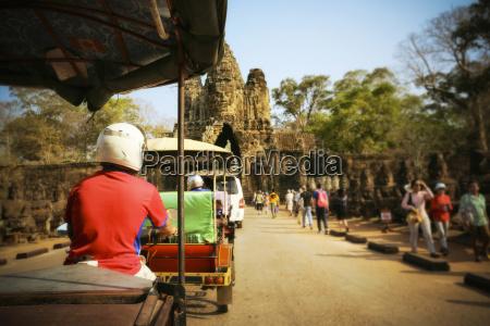 cambodia siem reap angkor wat driving