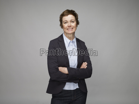 portrait of smiling mature woman with