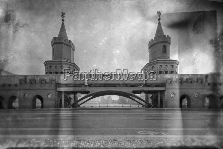 germany berlin oberbaum bridge and subway