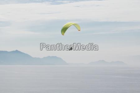 spain basque country getxo paragliding over