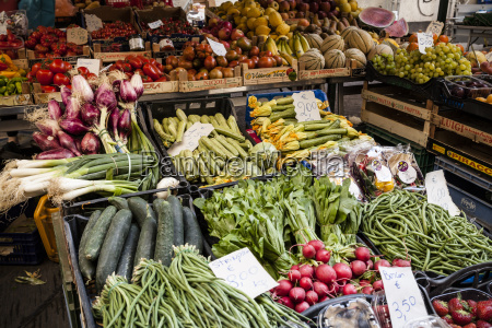 market stall with fresh produce