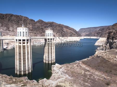 usa nevada hoover dam and lake