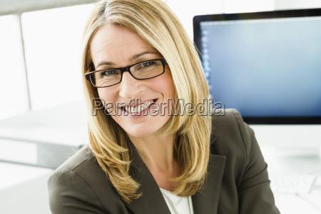 germany portrait of businesswoman smiling