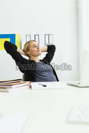 germany businesswoman looking away smiling