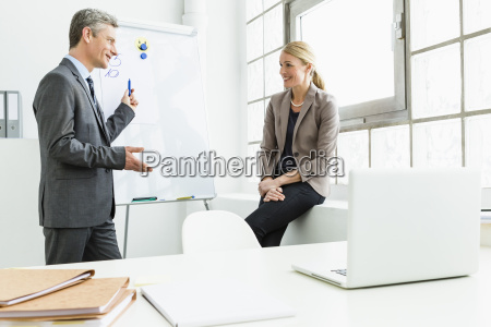 germany businessman planning with woman in