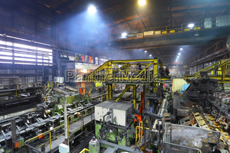 interior of a tube rolling mill