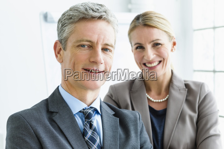 germany portrait of businessman and woman