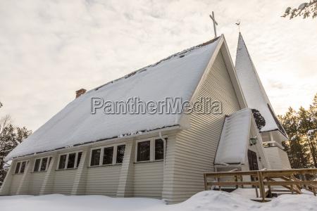 finnland inari kirchenhaus