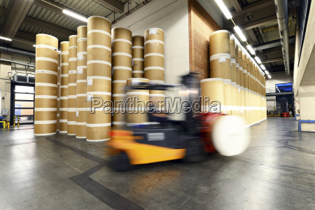 germany forklift in a printing shop