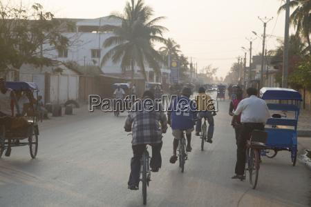 africa madagascar toliara traffic in street