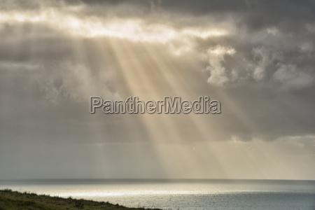 new zealand chatham island sun breaking