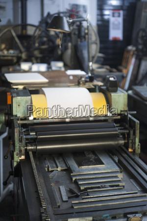 germany bavaria interior of printing press