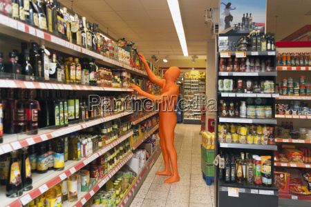 germany mature man dressed in orange