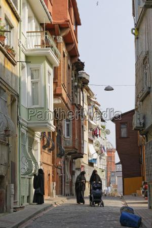 turkey istanbul fatih street scene