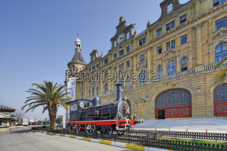 turkey istanbul kadikoey historical steam train