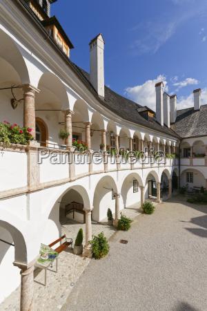 austria upper austria salzkammergut gmunden courtyard