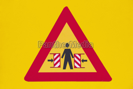 germany warning sign on yellow ground