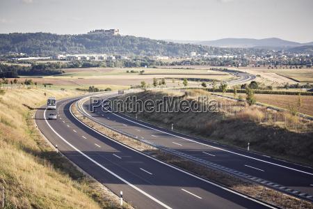 germany bavaria motorway near coburg