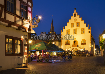 germany bavaria karlstadt town hall and