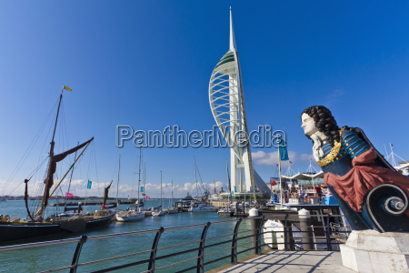 england hampshire portsmouth view of spinnaker