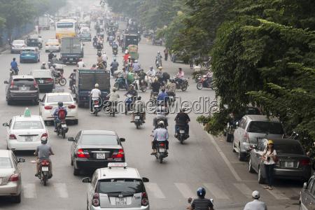 vietnam hanoi street chaos