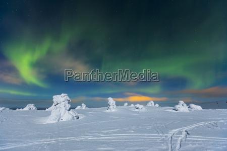 skandinavien finnland kittilae polar lichter aurora