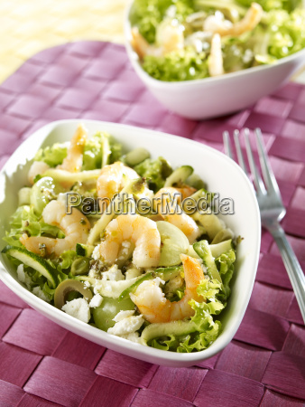 courgette salad with shrimps