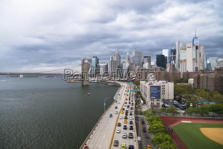 usa new york city fdr drive