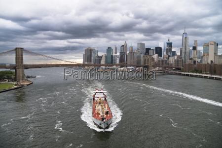 usa new york city ship on
