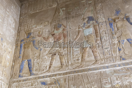 egypt luxor wall with hieroglyphs at