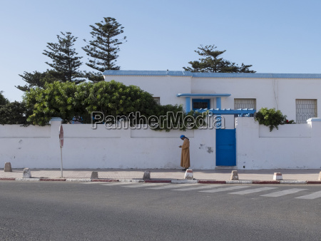 morocco essaouira man on pavement