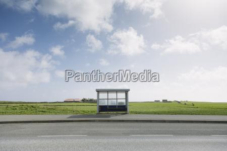 norwegen stavanger bushaltestelle