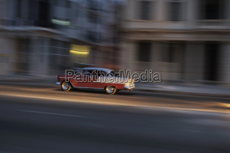 cuba havana american vintage car driving