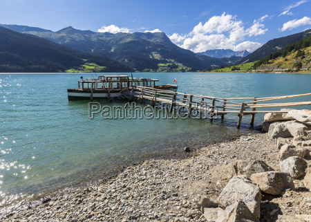 italy south tyrol vinschgau province reschensee