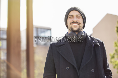 portrait of smiling young man with
