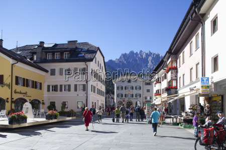italy south tyrol innichen old town