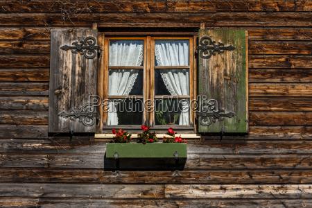 germany bavaria schaeftlarn window with flower