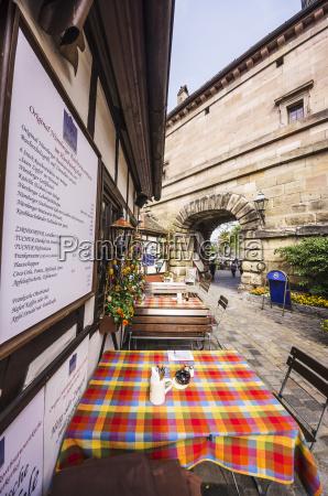 deutschland bayern nuernberg outdoor gastronomie